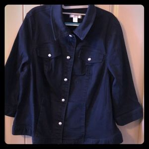 Navy blue CJ banks jacket